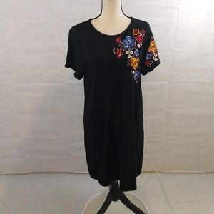 Philosophy T-Shirt Dress - Black - XL